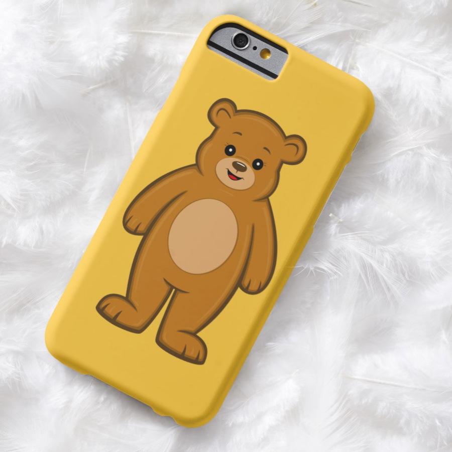 Happy Cartoon Bear iPhone Case