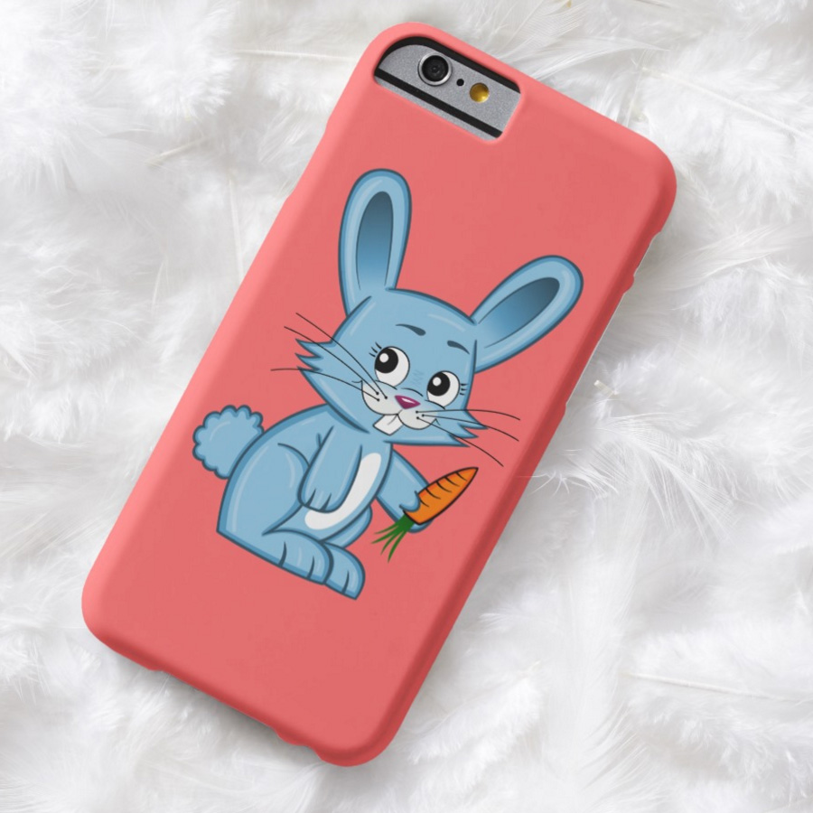 Cute Cartoon Bunny Holding Carrot iPhone Case