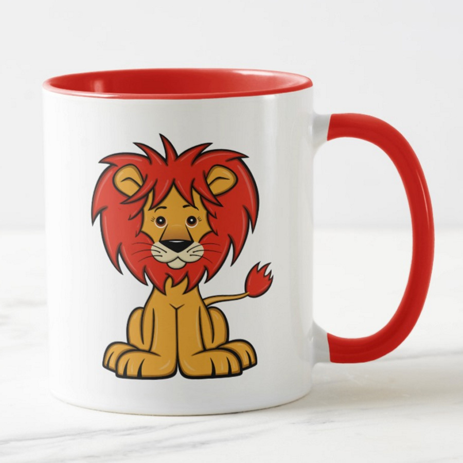 Cute Cartoon Lion Mug