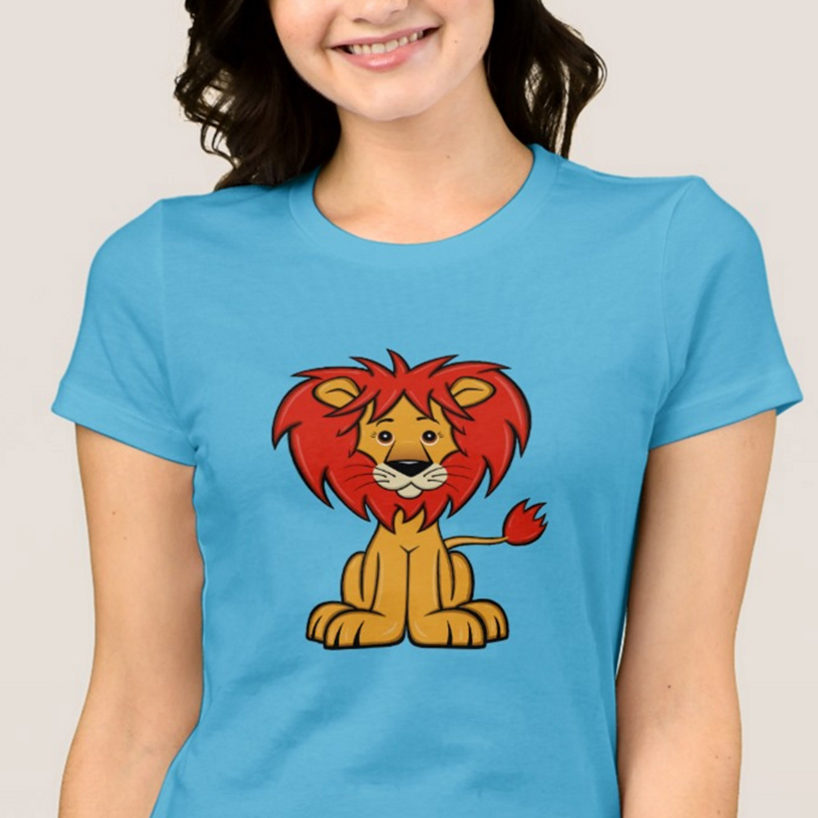 Cute Cartoon Lion Women's T-Shirt