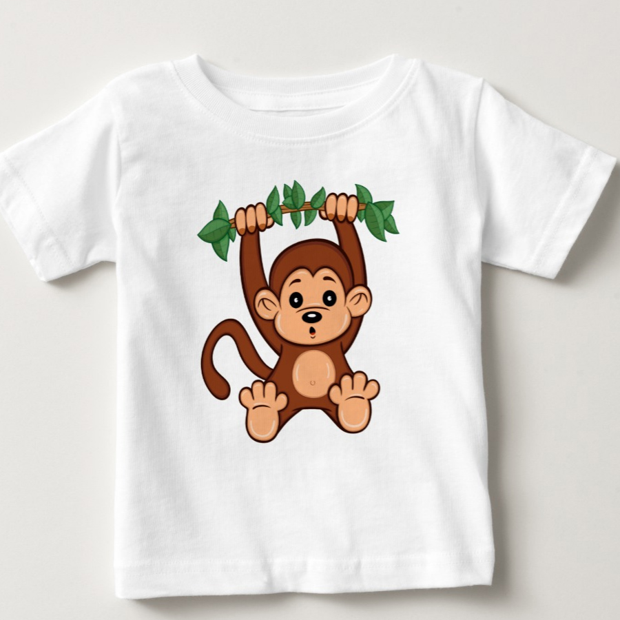 Cute Cartoon Monkey Baby T-Shirt