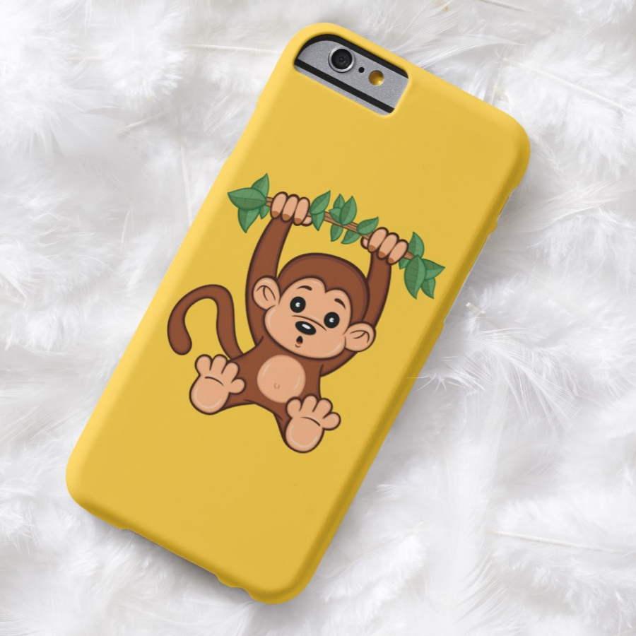 Cute Cartoon Monkey iPhone Case