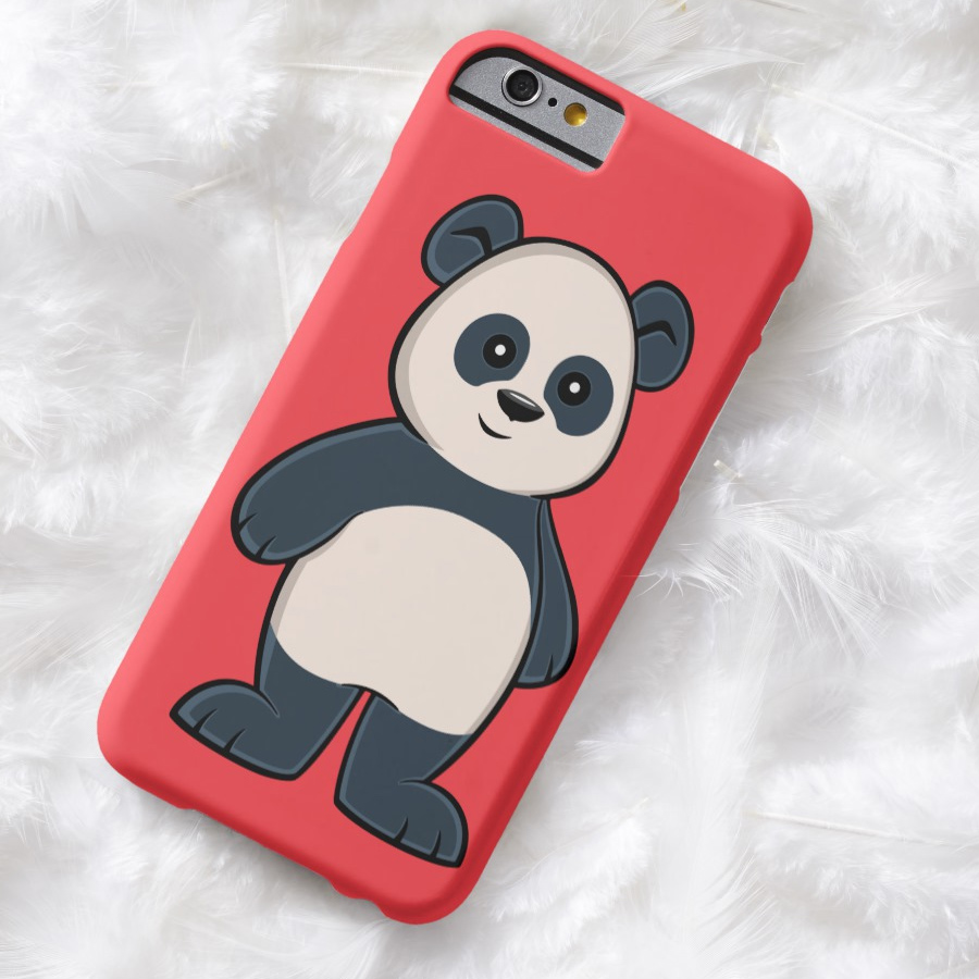 Cute Cartoon Panda iPhone Case