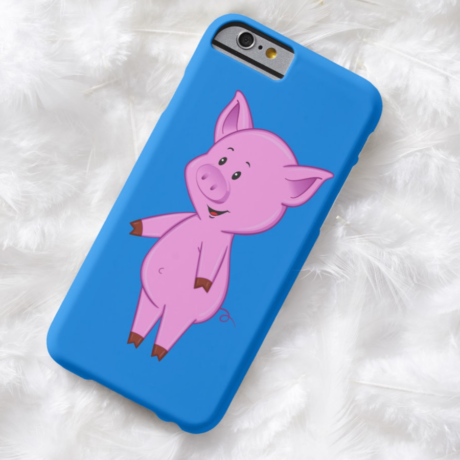Cute Cartoon Pig iPhone Case